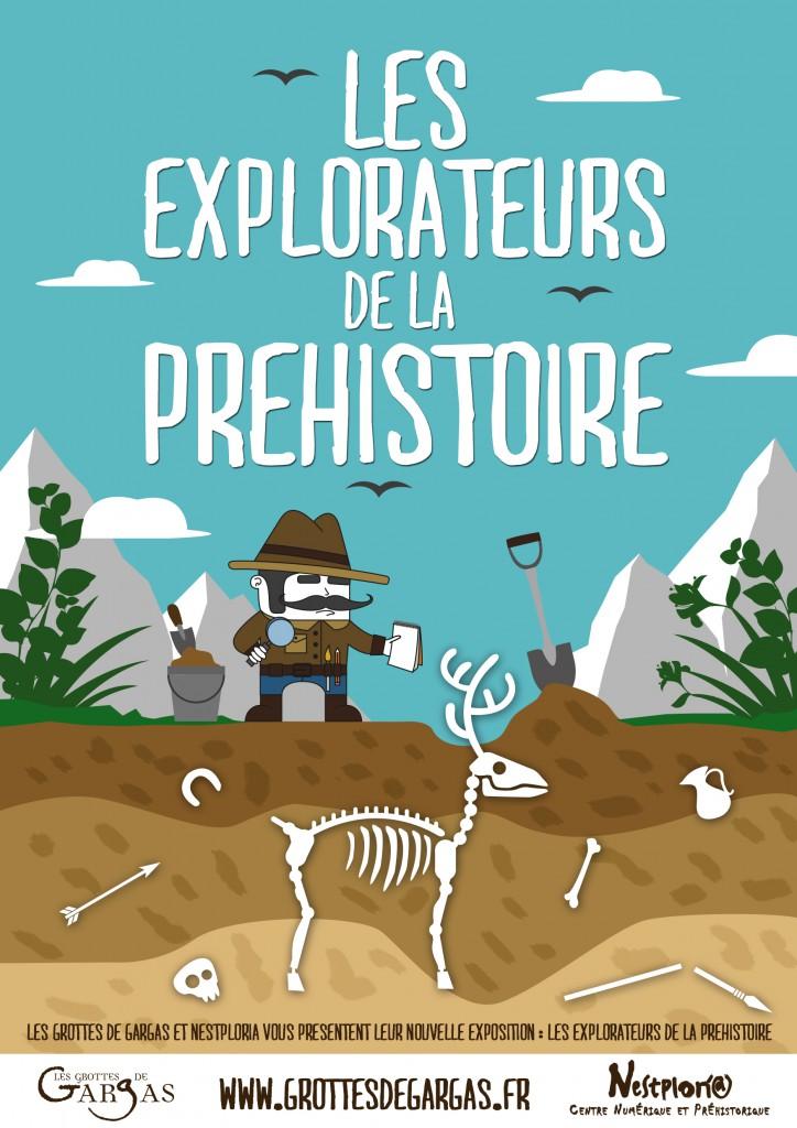 Affiche les explorateurs de la préhistoire © CCC Saint Laurent de Neste